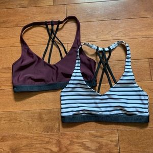 TWO under armour sports bras